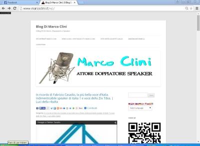 Ricordo di Casadio sul blog di Marco Clini